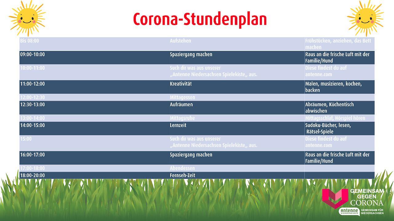 Corona Stundenplan
